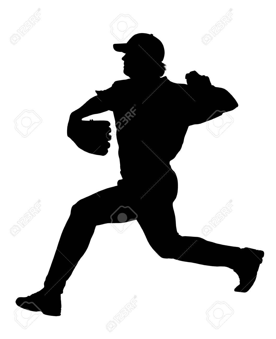 1057x1300 Baseball Silhouettes Collection 3 Royalty Free Vector Image