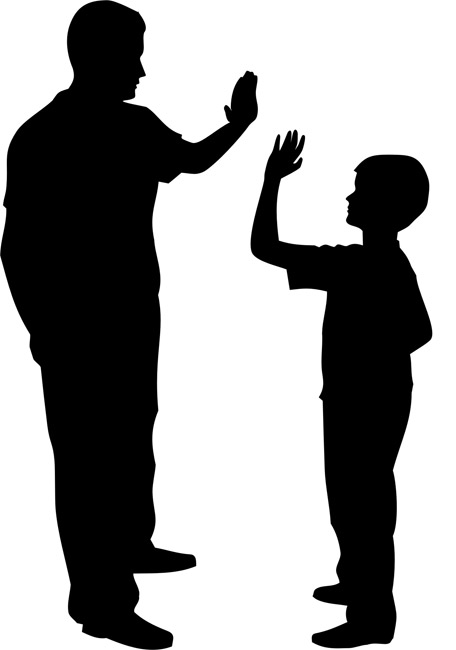456x650 Father And Son Silhouette Stencils