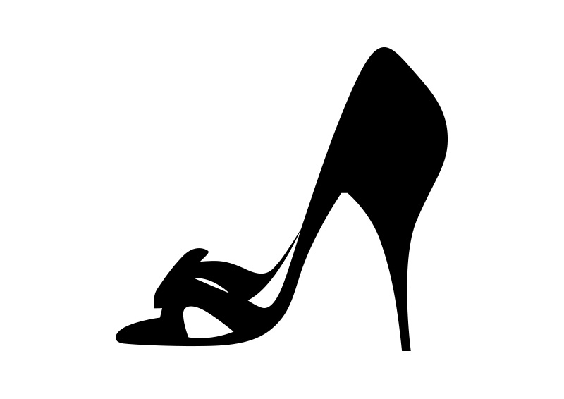 800x566 Heel Shoe Vector Silhouette