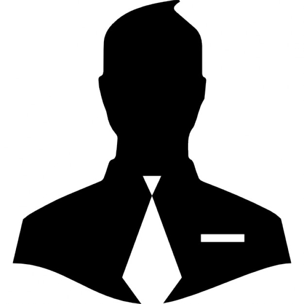 626x626 Male Close Up Silhouette With Tie Icons Free Download