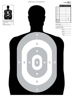 251x330 Silhouette Basic Shooting Target