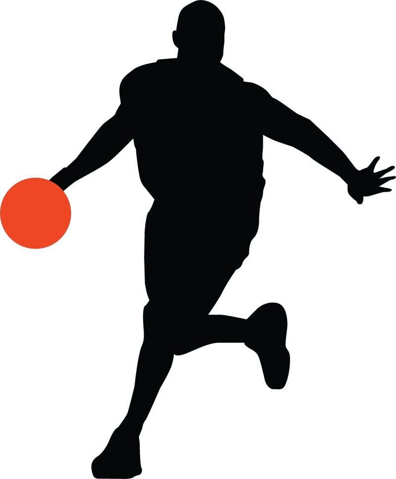 800x967 Basketball Player Silhouette