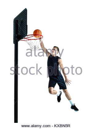 300x420 Basketball Player Isolated In White Stock Photo, Royalty Free