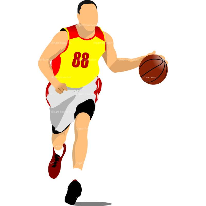 800x800 Player Dunking Clipart