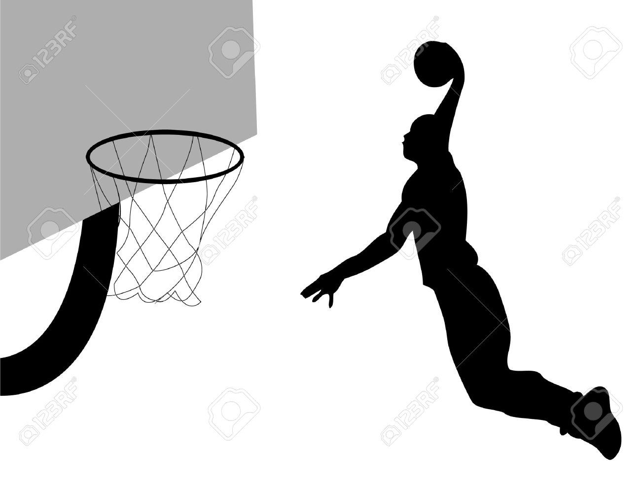 1300x975 Basketball Player Dunking Clipart 101 Clip Art