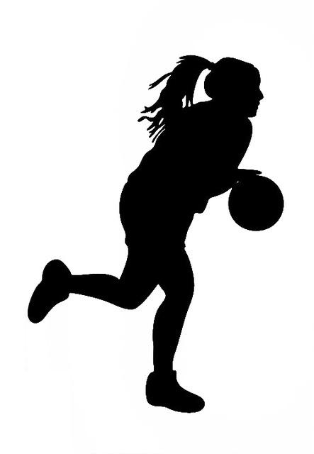 443x640 Girls Basketball Silhouette Girls Wall Decals Vinyl Stickers Home
