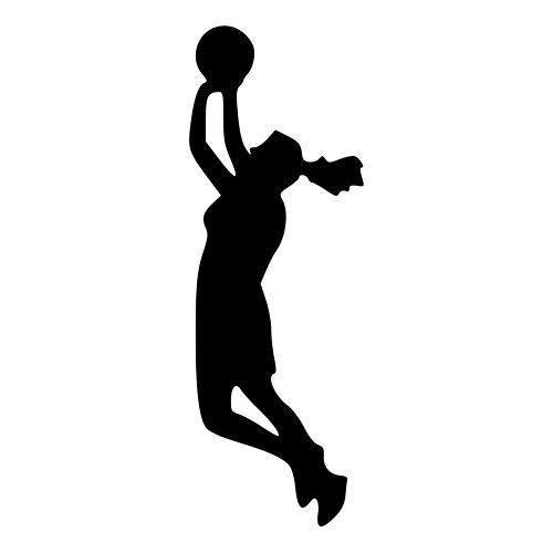 500x500 Jump Shot Girls Basketball Player Die Cut Decal Car Window Wall