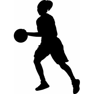 320x320 Basketball Girl Clip Art