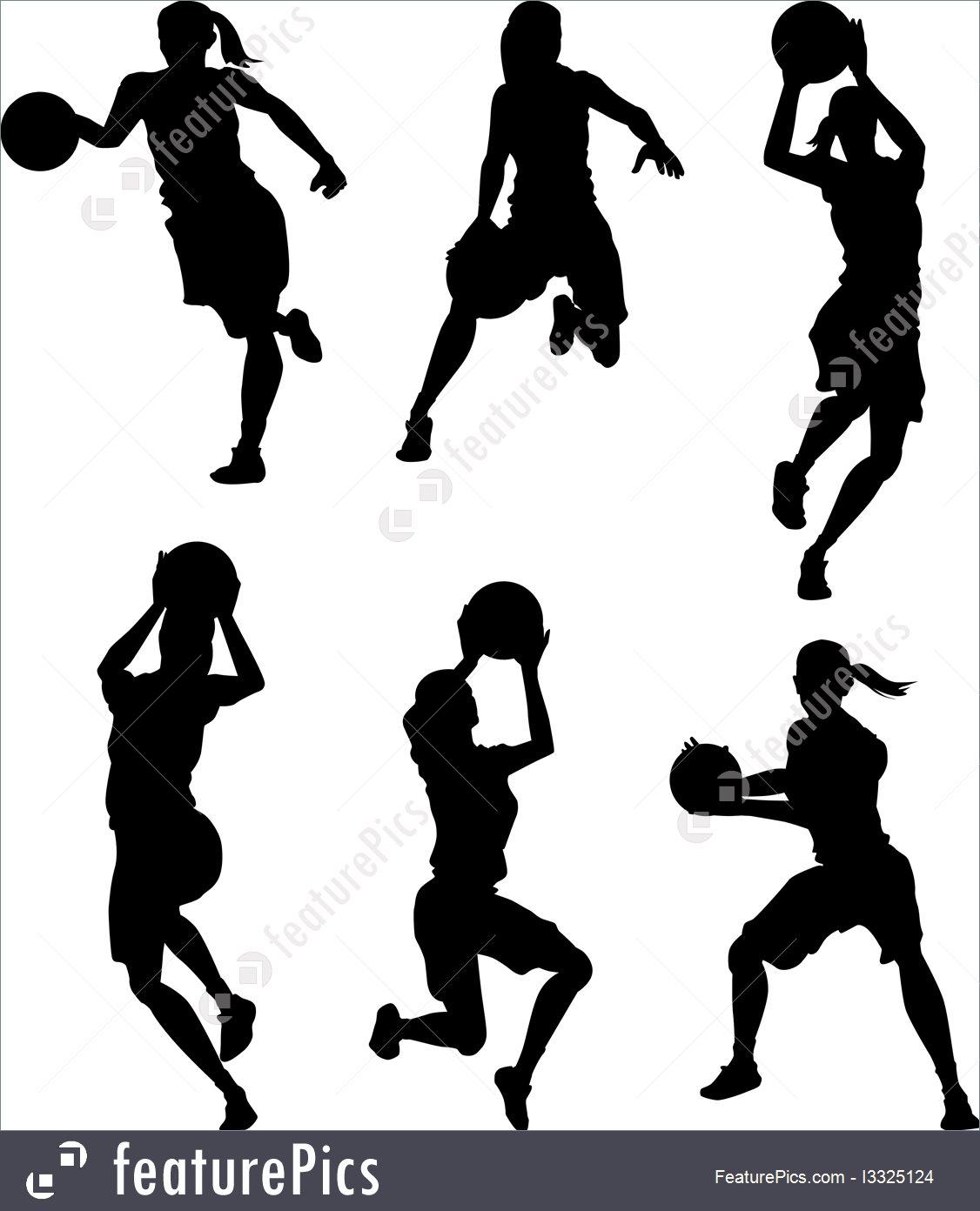 1126x1392 Basketball Female Women Silhouettes Illustration