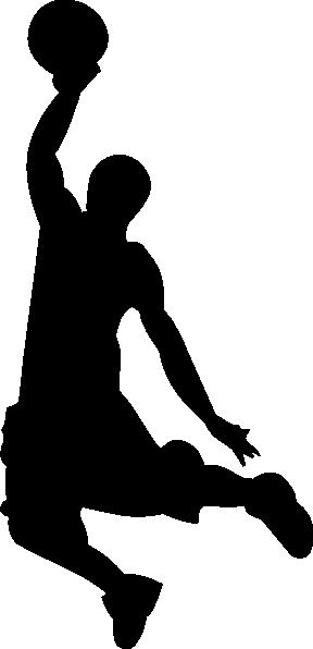 288x596 Basketball Silhouette Clip Art