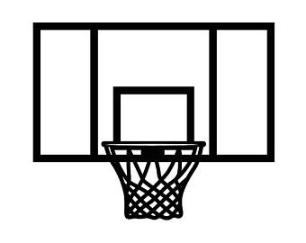 basketball goal silhouette at getdrawings com free for personal rh getdrawings com basketball goal clipart black and white Basketball Goal Net