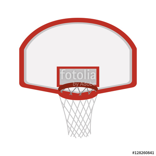 500x500 Silhouette Colorful With Rounded Basketball Hoop Vector