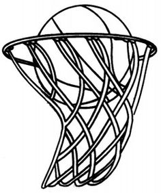 236x282 Basketball Hoop Clipart Black And White
