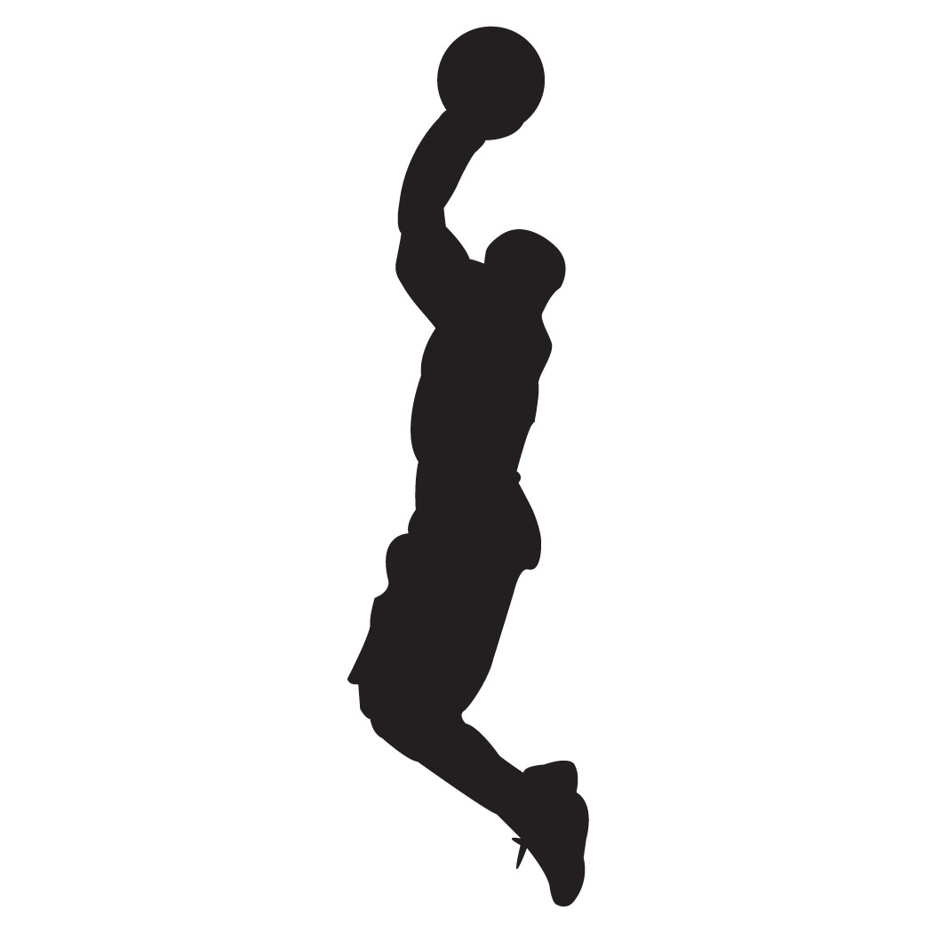 1050x1050 Basketball Silhouette Clipart Black And White Free Collection