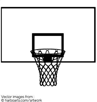 335x355 Download Basketball Net Silhouette
