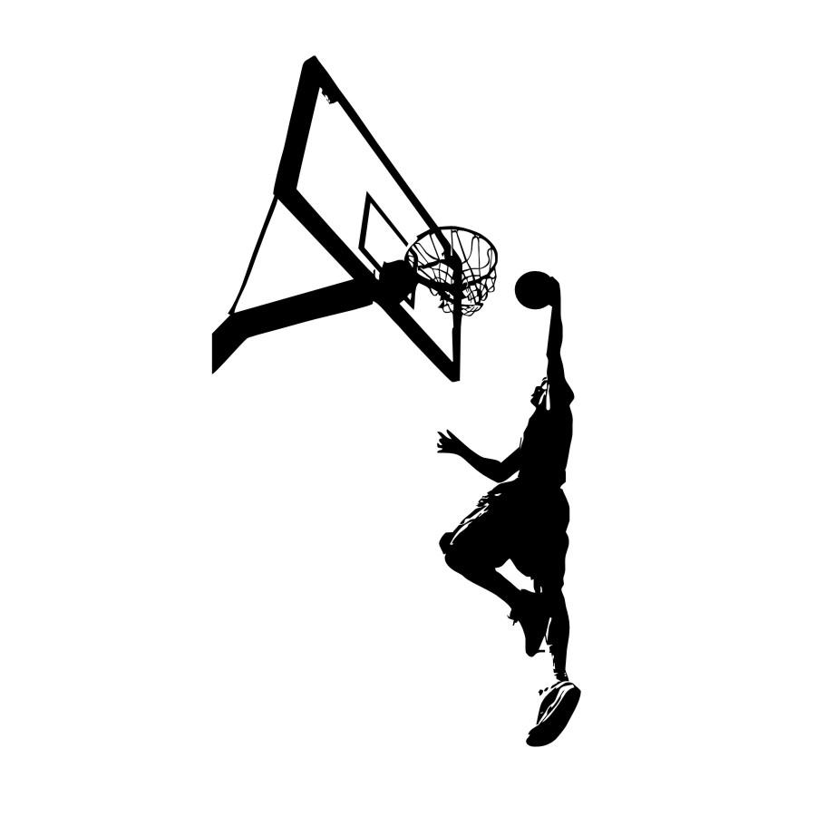900x900 Basketball Dunk Sport Wall Sticker Boy Bedroom Basketball Player