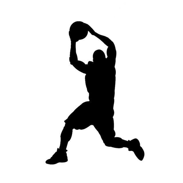 Basketball Player Shooting Silhouette
