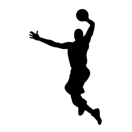 270x270 Basketball Player Silhouette Stencil Free Stencil Gallery