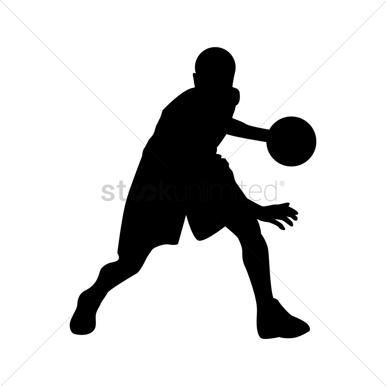 1300x1300 Basketball Player In Action Vector Image