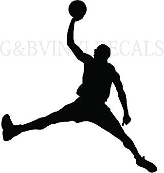 337x355 Boys Basketball Player Silhouette Boys Room Wall