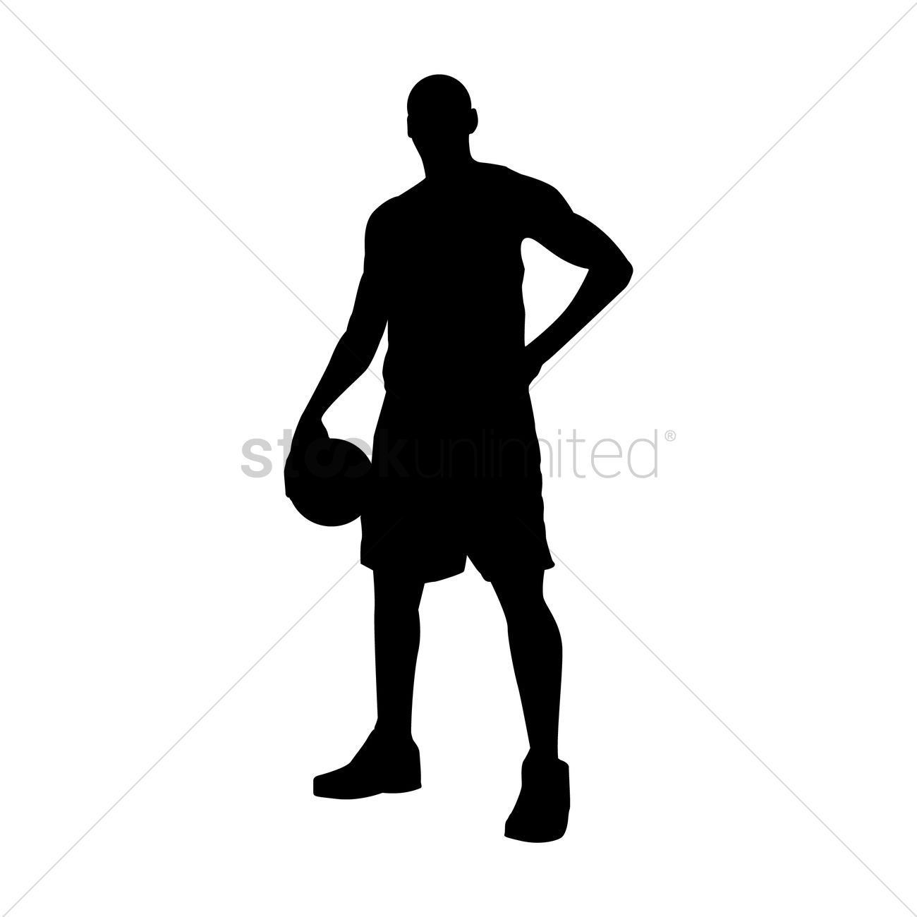 1300x1300 Basketball Player Standing Vector Image