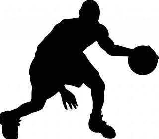 Basketball Player Silhouette Clipart