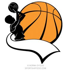 236x236 Female Basketball Player Silhouette Wall Art Sticker Present Gift