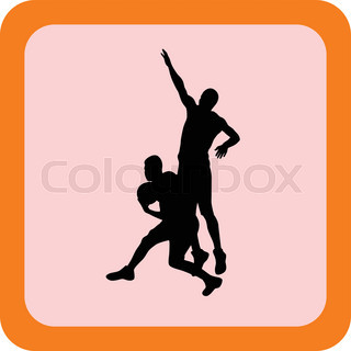 320x320 Silhouettes Of Basketball Players Vector Stock Vector Colourbox