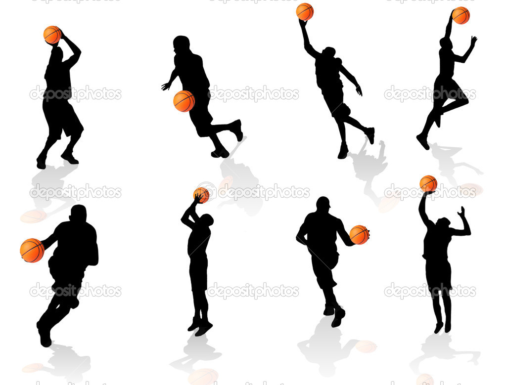 1023x779 Basketball Player Silhouette Clipart