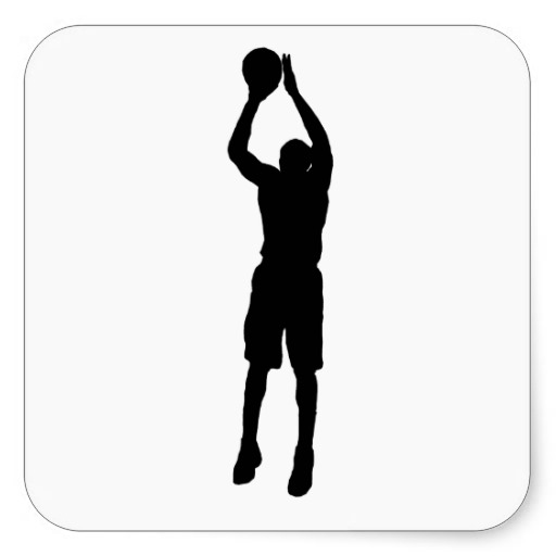 512x512 Basketball Player Silhouette Clipart