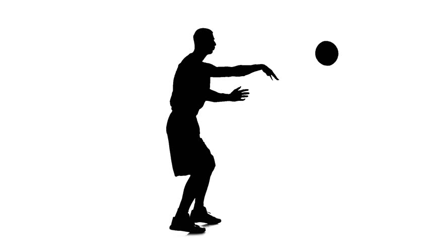 852x480 Basketball Spinning In A Circle And Passed The Ball To Himself