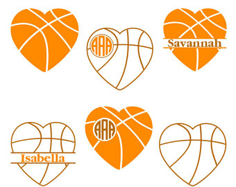 340x270 Basketball Heart Svg Etsy