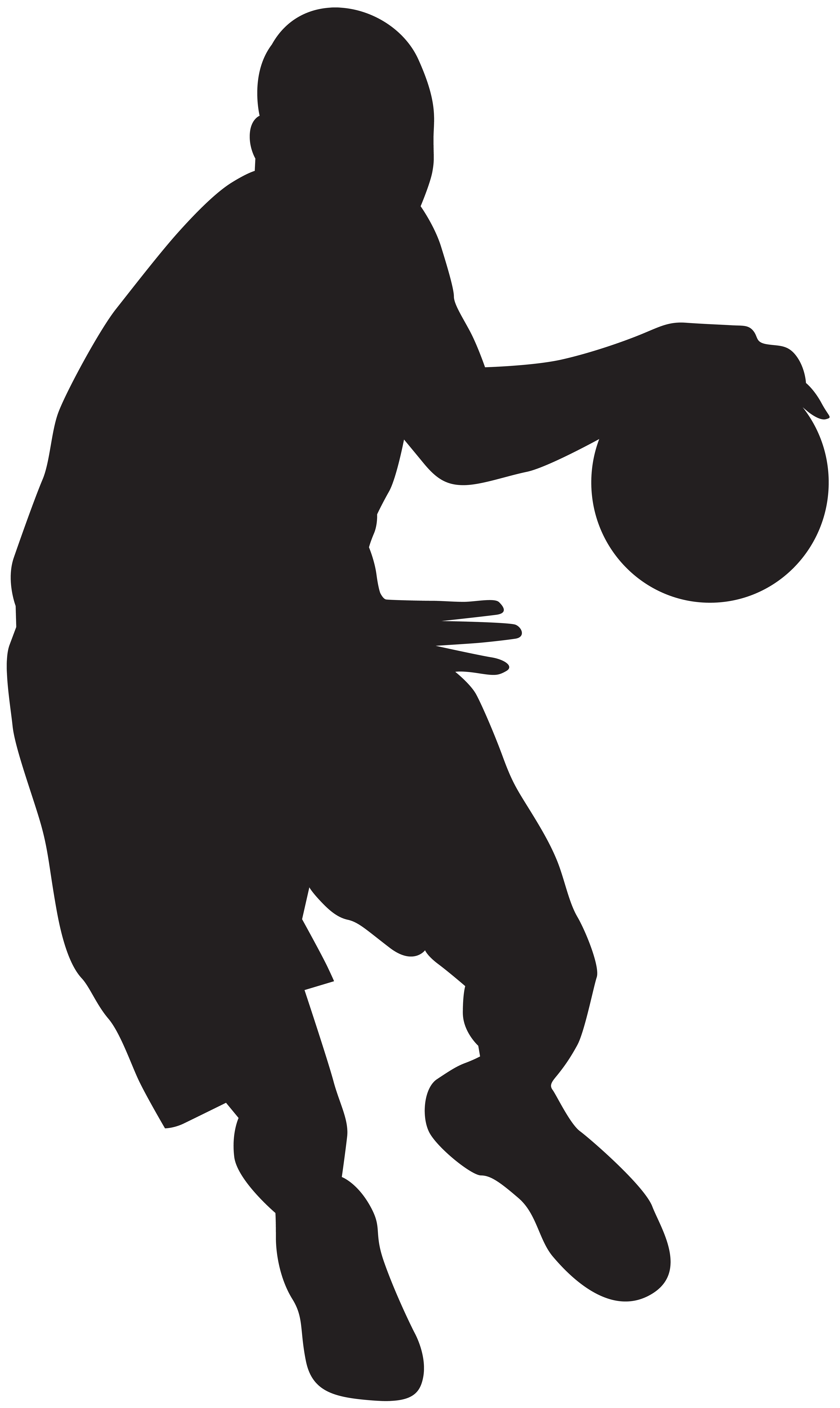 Basketball Silhouette Clip Art at GetDrawings com | Free for