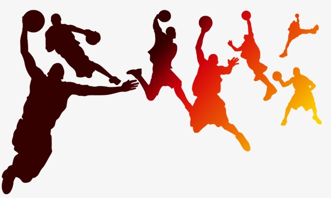 650x390 Playing Basketball Silhouette Figures, Basketball, Sketch, Sports