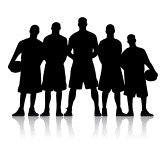 163x168 Basketball Player Silhouette Clip Art