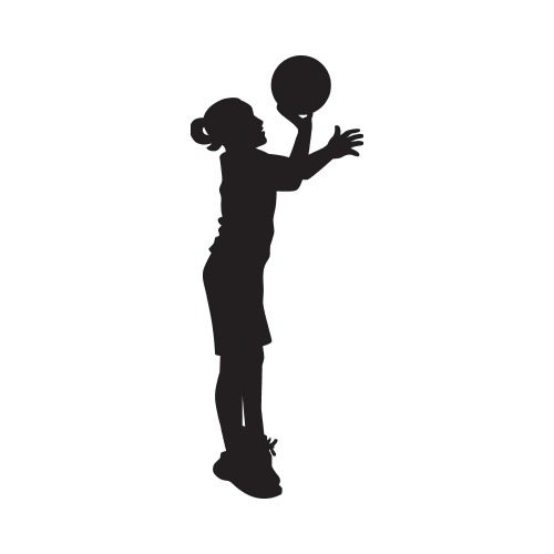 500x500 Cat 2 Basketball Kid Girl B Clip Art