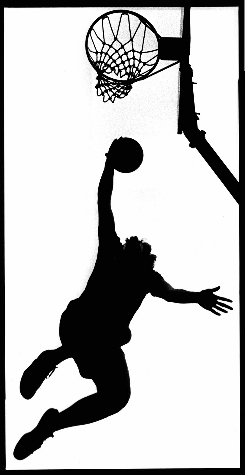 825x1600 Girls Basketball Silhouette