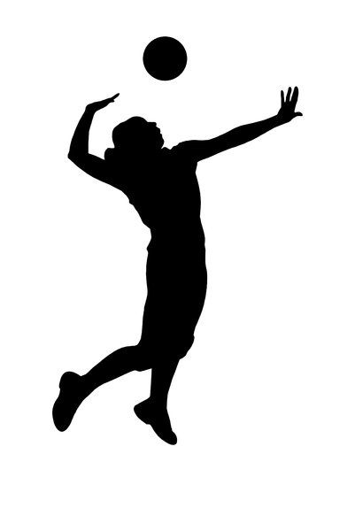 401x600 Silhouette Volleyball Girl