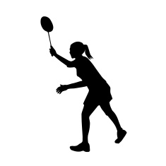 235x235 Badminton Player Clipart Girl