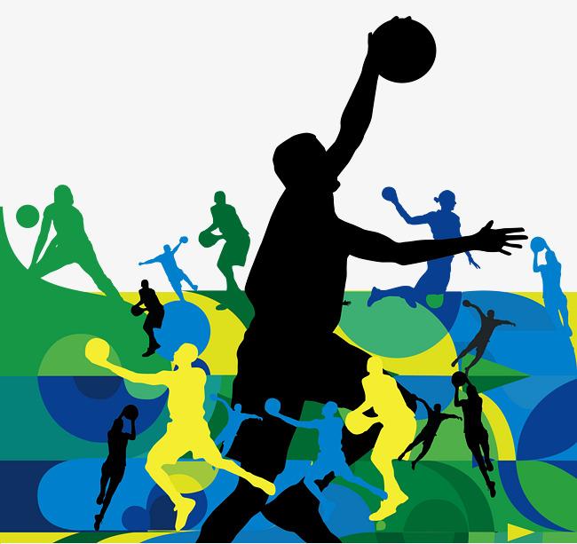 650x613 Basketball Characters Playing Basketball Silhouette, Basketball