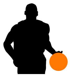 268x303 Basketball Player Silhouette Clipart Cliparthut