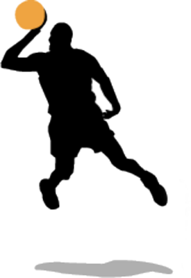 275x400 Basketball Player Silhouette Clipart