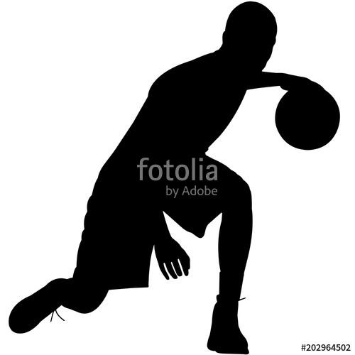 500x500 Basketball Silhouette, Basketball Player Clipart, Basketball