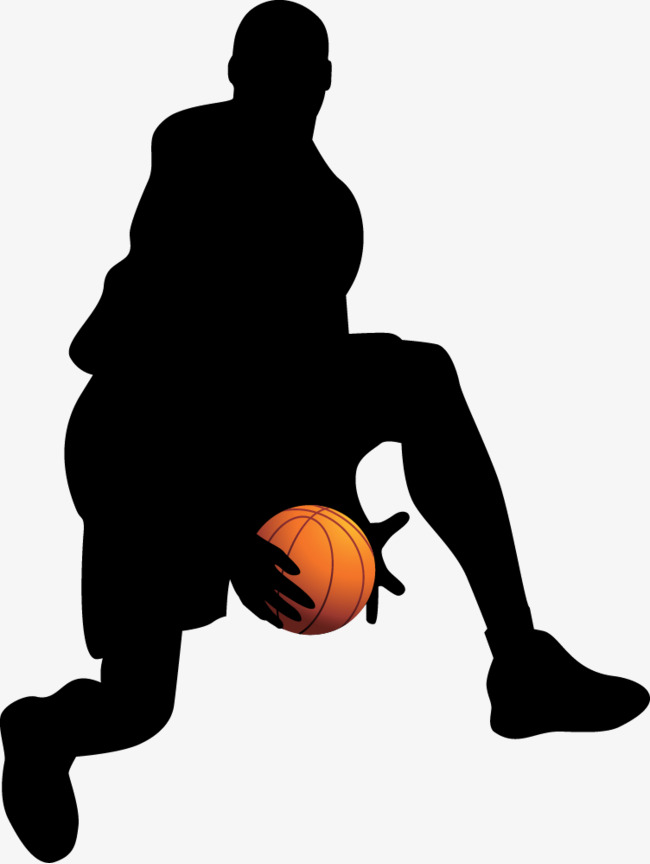 650x864 Basketball Silhouette Vector Material, Basketball, Movement