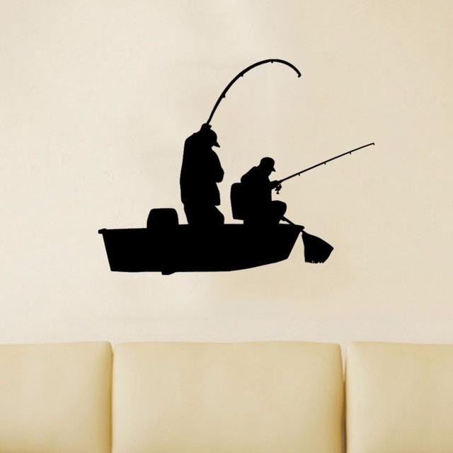 640x640 Creative Fishing Bass Trout Boat Fish Fisherman Graphic Wall