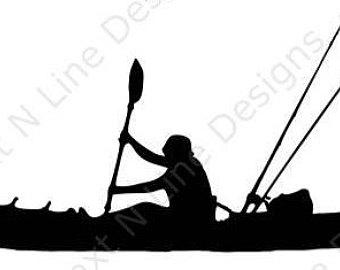 340x270 Kayak Fishing Decal Etsy