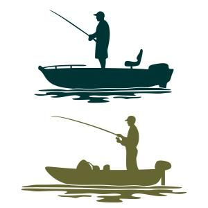 300x300 Bass Boat Svg Cuttable Design Bass Boat