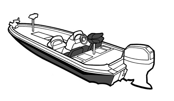 600x351 Bass Fishing Boat Drawing