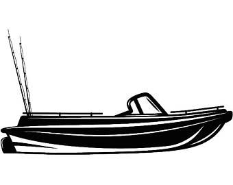 340x270 Bass Boat Clip Art Etsy