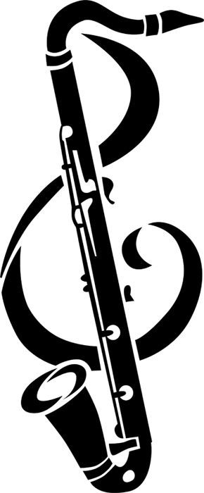 bass clarinet silhouette at getdrawings com free for personal use rh getdrawings com